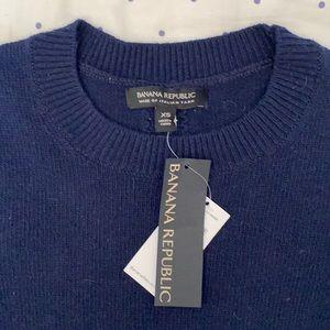 Banana republic navy cashmere blend sweater XS